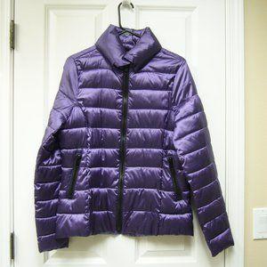 a.n.a Packable Coat Purple New